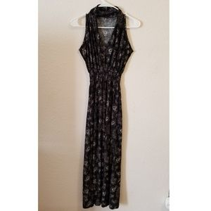 Maxi Dress - Black Bandana Design